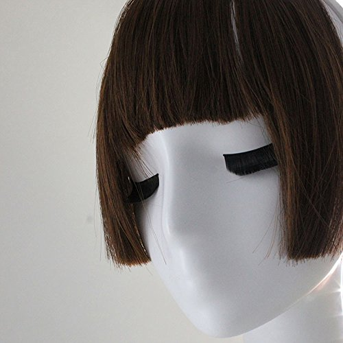 Makefortune 2019 Damen Perücke,Frauen Perücken Beauty Pretty Girls Clip On Clip In Front Hair Bang Fringe Hair Extension Piece Thin Frauen Make up Farbe knallt Mädchen Pflegesets (Clip On Perücken)