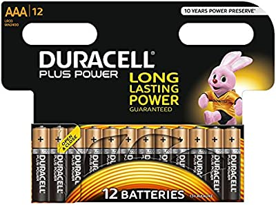 Duracell - Pila Alcalina - AAAx12 Plus Power
