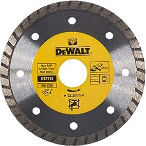 51jpelTUGPL. SS300  - Dewalt DT3712-QZ DT3712-QZ-Disco de Diamante Turbo para Corte en seco 125x22.2mm, para mármol, Granito y Piedra Natural, 0 W, 0 V
