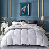 Umi. Essentials - Decke mit weißen Gänsefedern und -daunen und reinem, daunendichtem Baumwollgewebe (10,5 tog, staubabweisend, antibakteriell, geruchsabweisend, Einzel)