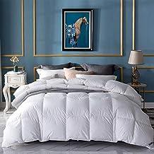 Umi. Essentials – Decke mit weißen Gänsefedern und -daunen und reinem, daunendichtem Baumwollgewebe (10,5 tog, staubabweisend, antibakteriell, geruchsabweisend, Doppel)