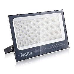 Natur 600W LED Strahler, Superhell Fluter,IP66 wasserdicht Industriestrahler, Flutlicht-Strahler,Außen-Leuchte Flutlicht-Strahler für Innen- und Außenbereich (Warm Weiß, 600W)