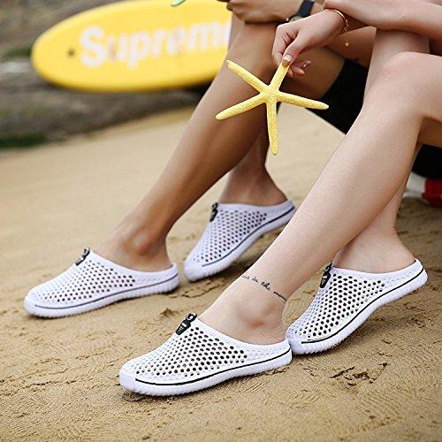 Kootk Donna Slippers Uomo Pantofole Spiaggia Scarpe Traspirante Scivolare su Sandali Adulto Pantofola Zoccoli A Passeggio Giardino Acqua Scarpe bianca