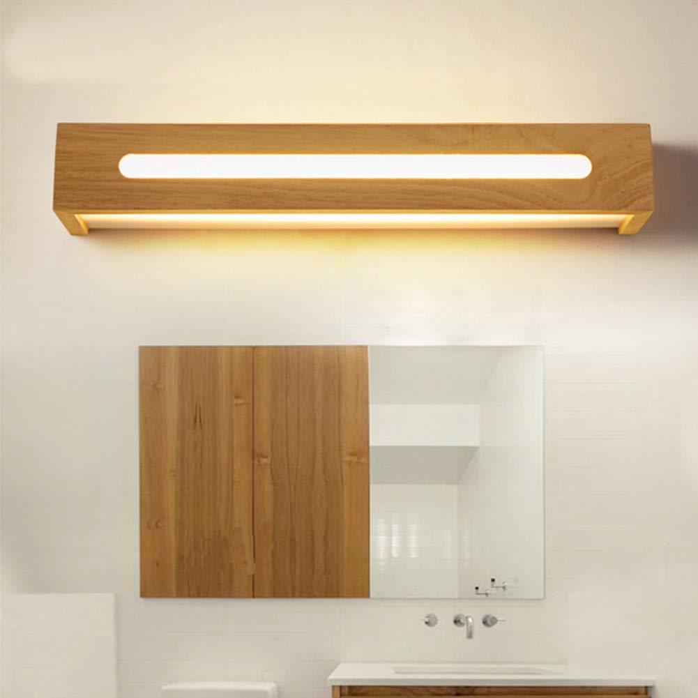 JUANLIGHT Faretto da Bagno a LED Rettangolare in Legno massello corridoio  Camera da Letto Comodino Camera da Letto (Caldo, Bianco)