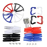 Coolplay Syma X5 X5c X5c-1 Main Blade & Propeller Protectors Blades Frame & Landing Skid & Motors Included Mounting Screws Spare Part for RC Mini Quadcopter Toy - Upgraded 4 Colors