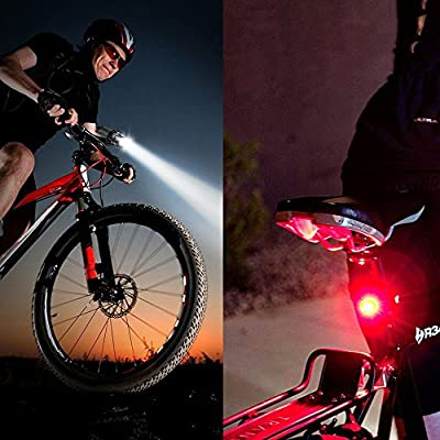 Bike Lights, DEGBIT® Super Bright Bike light set, Mountain Bike Light, 3 Light Modes, Cycle Lights LED bike light, 900lm, Water Resistant,Easy to Mount Headlight front bike light with Back Tail lights produced by DEGBIT - quick delivery from UK.
