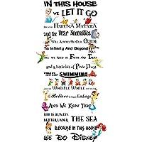 LightningSigns In This House We Do Disney Style Quote Rules Vinyl Wall Art Nursery Sticker LSD4 (Matt Black)