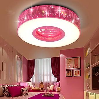 LYXG Kinder Im Zimmer Der Mädchen Schlafzimmer Licht LED Deckenleuchte  Prinzessin Warme Zimmer Sterne Romantische Runden Leuchten, 40cm:  Amazon.de: ...