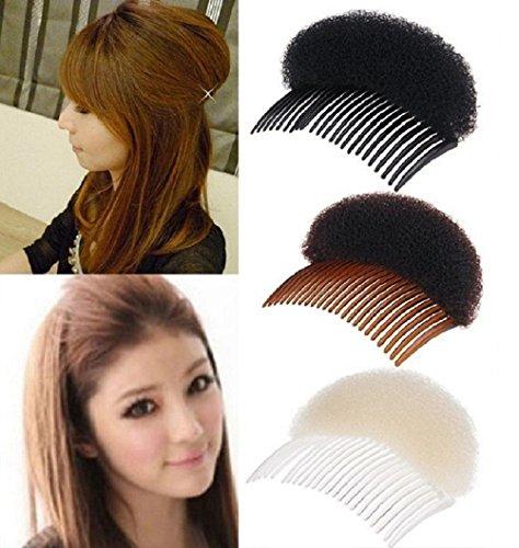 ILOVEDIY 2X Haarpflege Hochsteckfrisur Haar Former Kamm Haare Erhöhen Haarstyling Zubehör Frisurenhilfe (10.5cm, Beige)