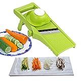Aibesser Mandoline Gemüsehobel 3 in 1 Gemüseschneider Profi Gemüsereibe Kartoffelschneider, Manuelle Essen Slicer, Obstschneider, Pflanzliche Slicer, Börner Gemüsehobel Reiben, Einfach