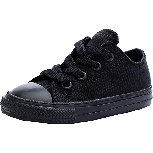 Converse Chuck Taylor All Star II Ox Black Monochrome Textile Baby Trainers Black Monochrome
