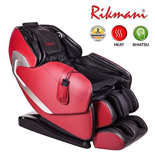 Rikmani Relax-Sessel S7000LX - 3D Massage-Sessel mit Wärmefunktion - Shiatsu Relaxsessel - TV Sessel und Rücken-Massagegerät (Modell 2019)