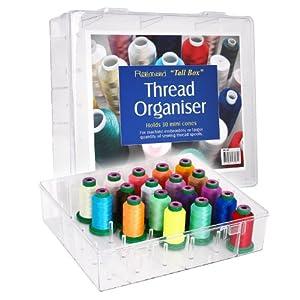 große Acryl-Garnbox für 30 Konen Stickgarn - ungefüllt
