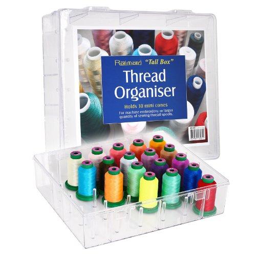 große Acryl-Garnbox für 30 Konen Stickgarn - ungefüllt -