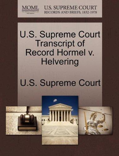 us-supreme-court-transcript-of-record-hormel-v-helvering