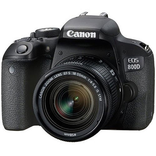Canon EOS 800D 24.2MP Digital SLR Camera + EF-S 18-55mm IS STM Lens + 16GB Memory Card