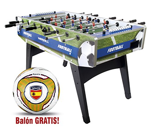 Leomark Delux Football table - Soccer table - Family game Fun wooden game sport table full size - free national soccer ball!
