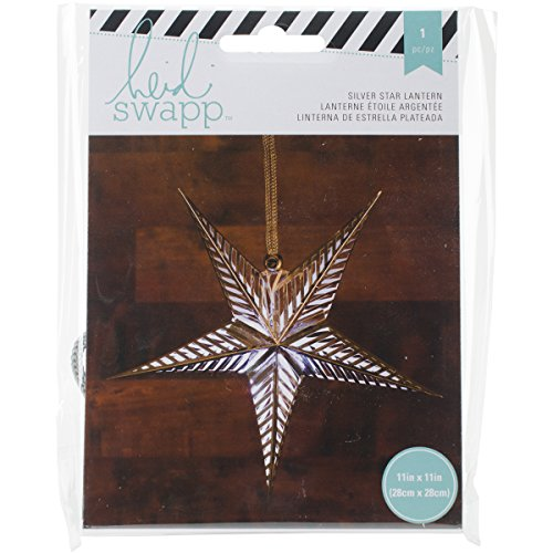 American Crafts Heidi Swapp 5 Star Lanterne en papier aluminium argenté 28, acrylique, multicolore