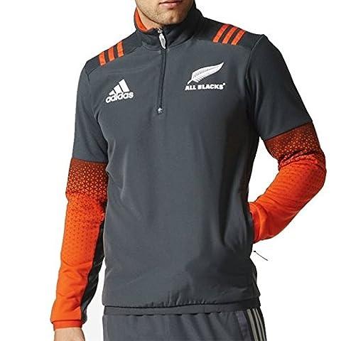 adidas Herren All Blacks Fleece-Jacke, Dgsogr/Energy/White, XL (American Apparel Deutschland)