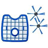 XZANTE 3pcs / Ensemble Aspirateur 1 Filtre + 2 brosses Rondes pour Philips Robot...