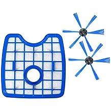 XZANTE 3 Piezas/Juego Aspiradora 1 Pantalla De Filtro + 2 Cepillo Redondo para Philips