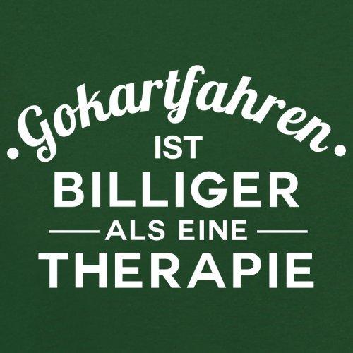 Gokartfahren ist billiger als eine Therapie - Herren T-Shirt - 13 Farben Flaschengrün