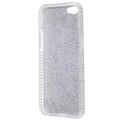 Bling Sparkle Glitter Rhinestone Resin Diamant Schützende Rückseite Cover Case Soft TPU Shell Stoßfänger [Shock Absorbtion] für OPPO A39 ( Color : E ) A