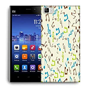 Snoogg Multicolor Music Designer Protective Phone Back Case Cover For Xiaomi Mi 3