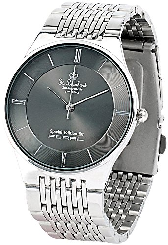 St. Leonhard Wasserdichte Herren-Armbanduhr aus Edelstahl (3 atm)