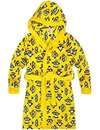 Minions Despicable Me Chicos Bata de baño con capucha Coral fleece 2016 Collection - Amarillo