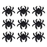 Amosfun La tavola di toppa del ragno 12pcs spruzza i ragni falsi per le decorazioni della tavola di Halloween