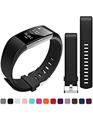 Fitbit Charge 2 Correa de Reemplazo, Bepack TPU Suave Silicona Adjustable Sport Strap Band para Fitbit Charge 2 Smartwatch Cardíaca Fitness Wristband