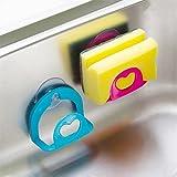 #9: SHAFIRE™ 2 Pc Set New Sucker Dishcloths Storage Kitchen Utensils Gadget Dish Cloth Sponge Suction Cup Wall Box Holder Mount Sink Tub