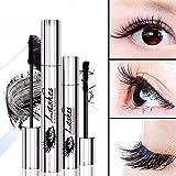 4D Mascara mit Faser-Sets Makeup Lash Kalt Wasserdicht Mascara-Eye Black Wimpernverlängerung