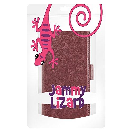 iPhone 4 Hülle, JAMMYLIZARD Luxuriöse Flip Cover Ledertasche mit Kartenfach für iPhone 4 & 4s, SCHWARZ BRAUN