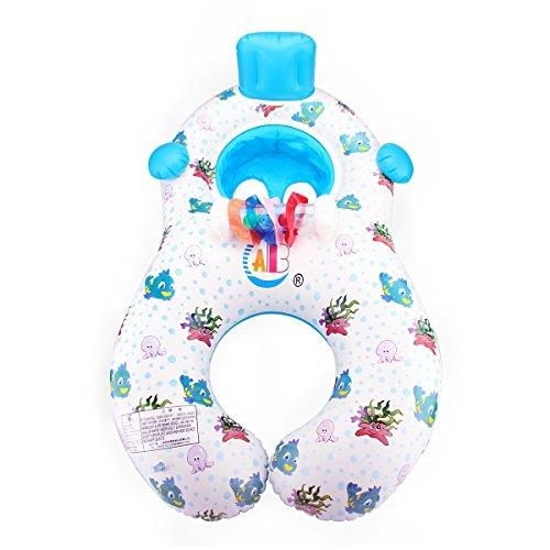 Qile Inflable Madre Bebé Piscina natación anillo,Bebé Inflable Juguetes de Piscina con Silla de Seguridad para la Actividad Familiar