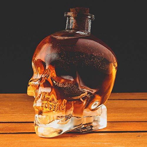 ASAB 750ml Totenkopf Drink Dekanter Kork Stopper Top Glas Krug Jar Wasser Cocktail Saft Punch Container Fun Party Halloween Neuheit-Zubehör (Halloween Wodka-drinks Für)