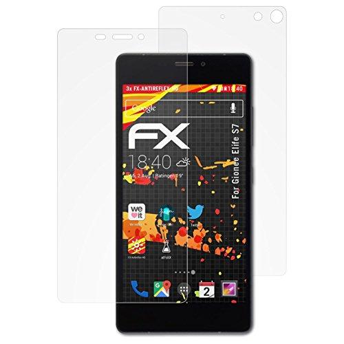 atFolix Schutzfolie kompatibel mit Gionee Elife S7 Displayschutzfolie, HD-Entspiegelung FX Folie (3er Set)
