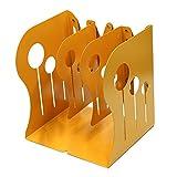 Lenhar Serre-livres décoratifs pour le bureau - Grande taille, extensibles, ultrarésistants et antidérapants jaune