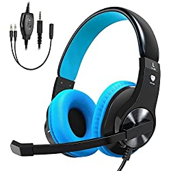 Cocoda Casque Gaming pour PS4 Xbox One, Casque Gamer Micro Stéréo Anti-Bruit Basse avec LED, Contrôle du Volume, Réglable pour Nintendo Switch, PC, Téléphone, Tablette, Idée Cadeau