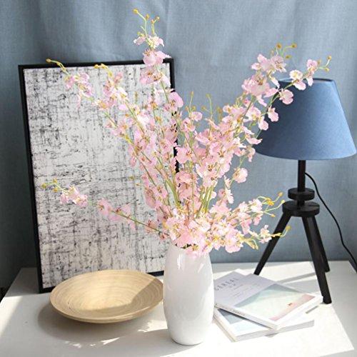 Sunday Wohnaccessoires & Deko Künstliche Blumen Kunstpflanze Simulation Oncidium Orchidee Phalaenopsis Blumen für Hochzeit Dekor 1PCS künstliche (Rosa)