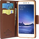 ERIT Flip Cover with Stand, Credit Card Slots and Wallet for RedMI 3s Prime(Brown)