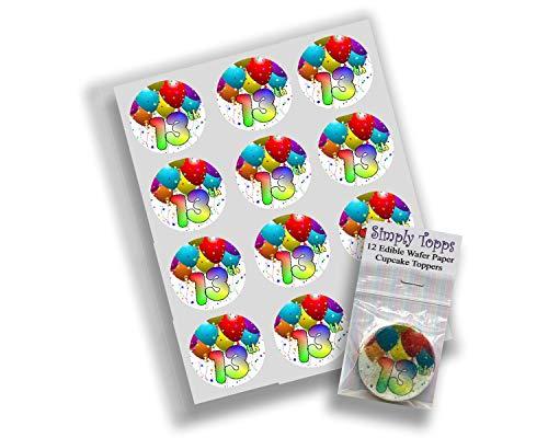 12x 13th Geburtstag reispapier märchen / cup cake 40mm toppers vorgestanzt dekoration (Märchen-geburtstag Dekorationen)