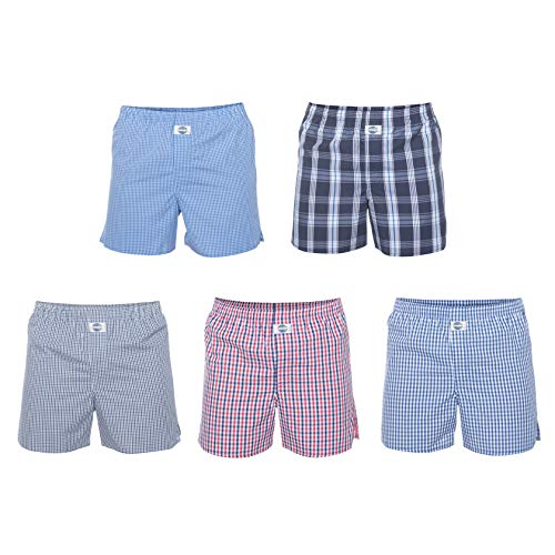 D.E.A.L International 5-er Set Boxershorts mit Karo-Mix Größe L