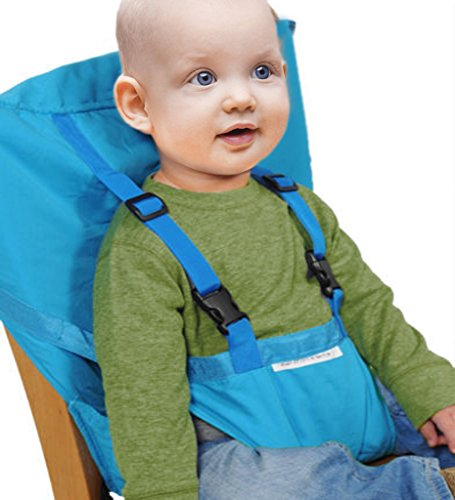 GudeHome Hochstuhl baby tragbarer Stuhl-Sitzgurt Hochstühle für Essen und Feiertagen Bequeme und nicht zu besetzen Raum Kindersitz Für Unterwegs Passt in die Tasche (Urlaub Essen)
