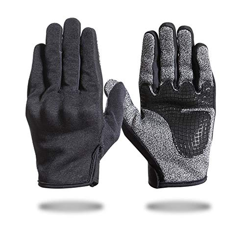 Xuanbao Arbeitshandschuhe Vollfinger-Handschuhe Outdoor Sports Wandern Handschuhe Verschleißfeste Anti-Rutsch-Cut-Proof-Handschuhe Schnittfester Schutz (Größe : L)