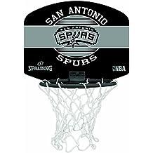 Spalding NBA Miniboard SA Spurs 77-658Z Minicanasta, Unisex, Multicolor, Talla Única