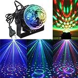 Xshuai 93 x 90 x 85 mm Stimme aktiviert Langes Arbeiten DJ-Beleuchtung Strobe-Effekte LED Kristall Magic Ball Projektor Bühnen Show Light Club Disco KTV (Multicolor A / B / C / D) (C)
