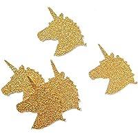 coriandoli testa di unicorno - oro - festa compleanno