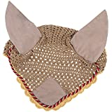 MagiDeal Soft Cotton Hand Crochet Breathable Fly Veil With Ears For Horse